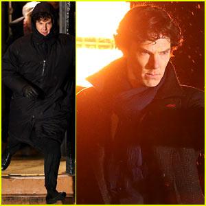Benedict Cumberbatch: 'Sherlock' Night Scenes!