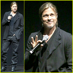 Brad Pitt: CinemaCon 2013 Presentation for 'World War Z'!