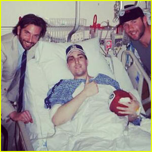 Bradley Cooper Visits Wounded Boston Bombing Victim