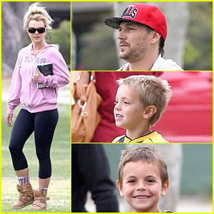 Britney Spears & Kevin Federline: Boys' Sunday Soccer Game!