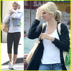 Cameron Diaz: Refreshing Gym Workout!