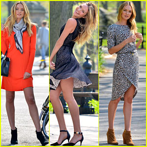 Candice Swanepoel: Central Park Photo Shoot!