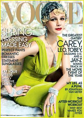 Carey Mulligan Covers 'Vogue' May 2013 as Daisy Buchanan!