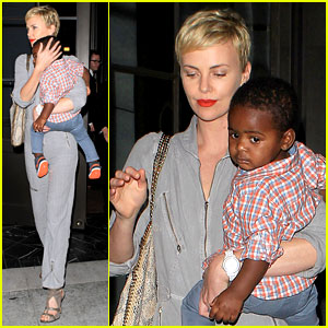 Charlize Theron Rocks Jumpsuit for Dinner with Jackson!