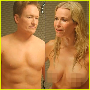 Chelsea Handler & Conan O'Brien: Nude Shower Video!