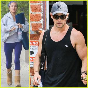 Chris Hemsworth & Elsa Pataky: Separate Easter Outings!