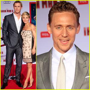 Chris Hemsworth & Tom Hiddleston: 'Iron Man 3' Premiere!