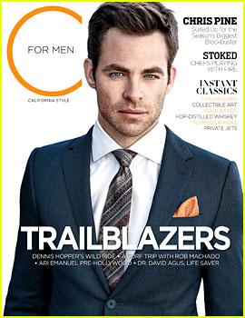 Chris Pine Covers 'C For Men' Magazine Spring 2013
