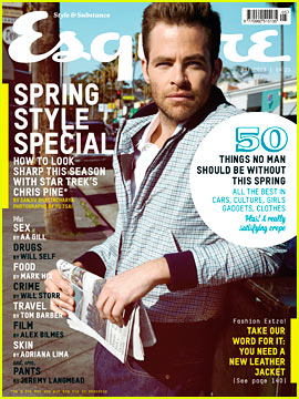 Chris Pine Covers 'Esquire UK' May 2013