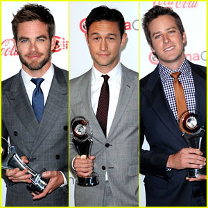 Chris Pine & Joseph Gordon-Levitt: CinemaCon Awards!