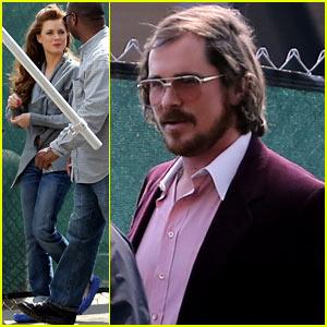 Christian Bale & Amy Adams: Lunch Break On Set!