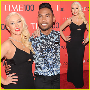 Christina Aguilera & Miguel - Time 100 Gala 2013 Red Carpet 2013 Time 100 Gala, Christina Aguilera, Lena Dunham, Miguel : Just J