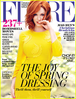 Christina Hendricks Covers 'Flare' May 2013