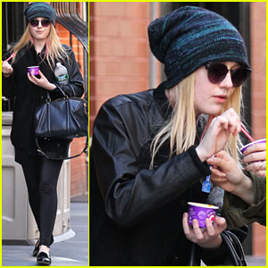 Dakota Fanning: Big Apple Ice Cream Treat!