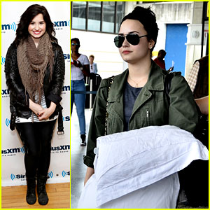 Demi Lovato Flies to Barbados After SiriusXM Visit