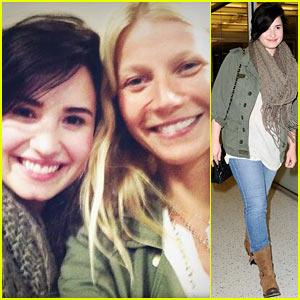 Demi Lovato & Gwyneth Paltrow: Flight Buddies!