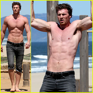Derek Theler: Shirtless Beach Stud!