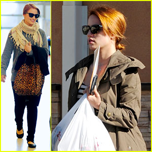 Dianna Agron Jets Out of LAX After Pharmacy Stop
