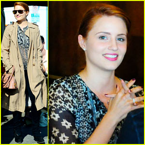 Dianna Agron: New Dyed Red Hair!