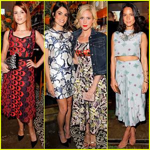 Dianna Agron & Olivia Munn: Vogue's Triple Threat Dinner!