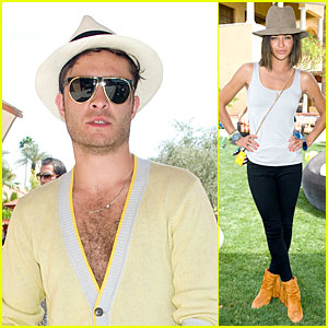 Ed Westwick & Jessica Szohr: Just Jared/Armani Exchange Music Festival Brunch!