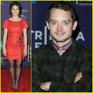 Elijah Wood: 'Set Up, Punch' Premiere with Alia Shawkat!