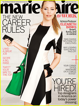 Elizabeth Banks Covers 'Marie Claire @ Work' May 2013