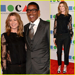 Ellen Pompeo: MOCA Gala 2013 with Chris Ivery!
