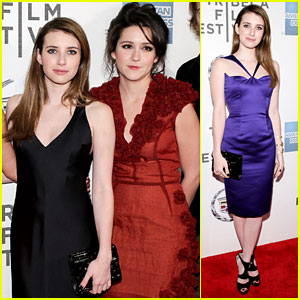 Emma Roberts Wears Two Dresses to 'Adult World' Premiere