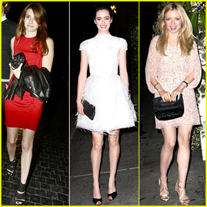 Emma Roberts & Krysten Ritter: Alice + Olivia Dinner Party!