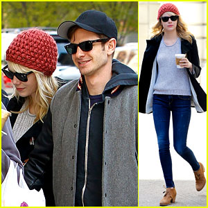 Emma Stone & Andrew Garfield: Bubby's Coffee Couple!