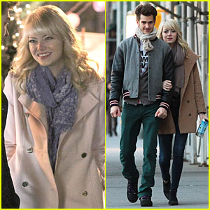 Emma Stone & Andrew Garfield: Night Scenes on 'Amazing Spider-Man 2' Set!