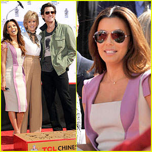 Eva Longoria: Jane Fonda's Hollywood Hand & Footprint Ceremony!