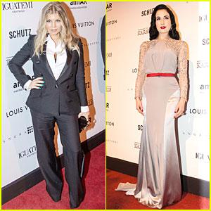 Fergie & Dita Von Teese: amfAR Inspiration Gala Attendees!