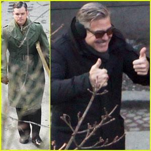 George Clooney & Matt Damon: 'The Monuments Men' in Berlin