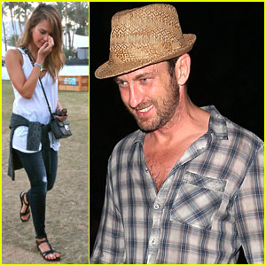 Gerard Butler & Jessica Alba: Coachella Weekend Two!