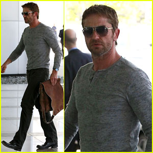 Gerard Butler Talks Having Fun with Dog Lolita