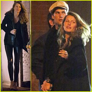 Gisele Bundchen & Tom Brady Hold Hands on Date Night!