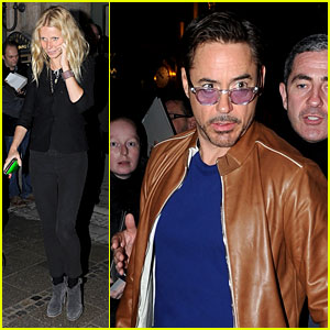 Gwyneth Paltrow & Robert Downey Jr.: Dinner in Germany!
