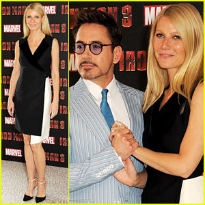 Gwyneth Paltrow & Robert Downey, Jr.: 'Iron Man 3' London Photo Call