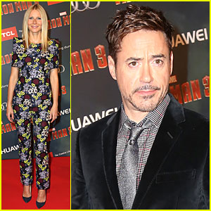 Gwyneth Paltrow & Robert Downey, Jr.: 'Iron Man 3' Paris Premiere!