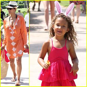 Halle Berry: Maui Easter Egg Hunt with Nahla!