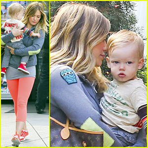 Hilary Duff & Mike Comrie: Family Breakfast with Luca!