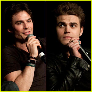 Ian Somerhalder & Paul Wesley: 'Vampire Diaries' Convention!