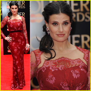 Idina Menzel: Olivier Awards Red Carpet 2013 & Performance