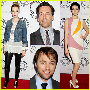 January Jones & Jon Hamm: 'Mad Men' Paley Presentation!