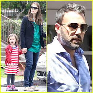 Jennifer Garner & Seraphina: Cafe Stopping Duo!