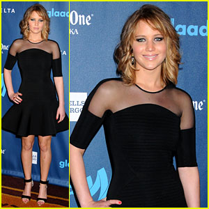 Jennifer Lawrence: New Short Hair at GLAAD Media Awards 2013!