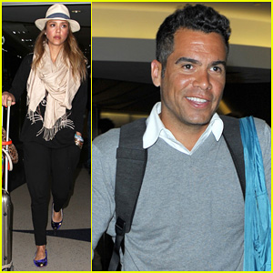 Jessica Alba & Cash Warren: From St. Barts To LAX!