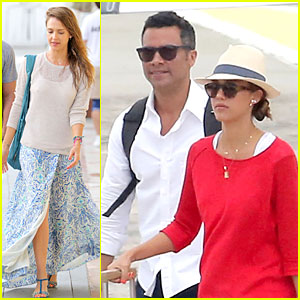 Jessica Alba & Cash Warren: St. Barts Departing Couple!